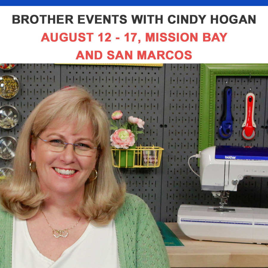 Brother Event with Cindy Hogan August 12 - 17 10AM - 5PM