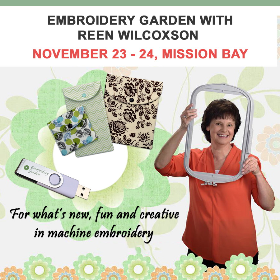 Embroidery Garden With Reen Wilcoxson Mission Bay Location November 23 - 24
