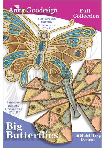 Anita Goodesign Big Butterflies Design Pack 116AGHD