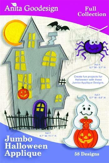 Anita Goodesign Jumbo Halloween Applique 126AGHD