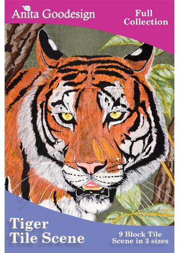 Anita Goodesign Tiger Tile Scene 140AGHD