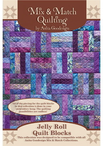 Anita Goodesign Jelly Roll Quilt Blocks 163AGHD