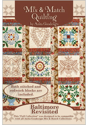 Anita Goodesign Full Collection Mix & Match Quilting Baltimore Revisited 180AGHD