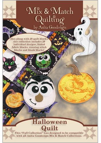 Anita Goodesign Full Collection Halloween Quilt 196AGHD
