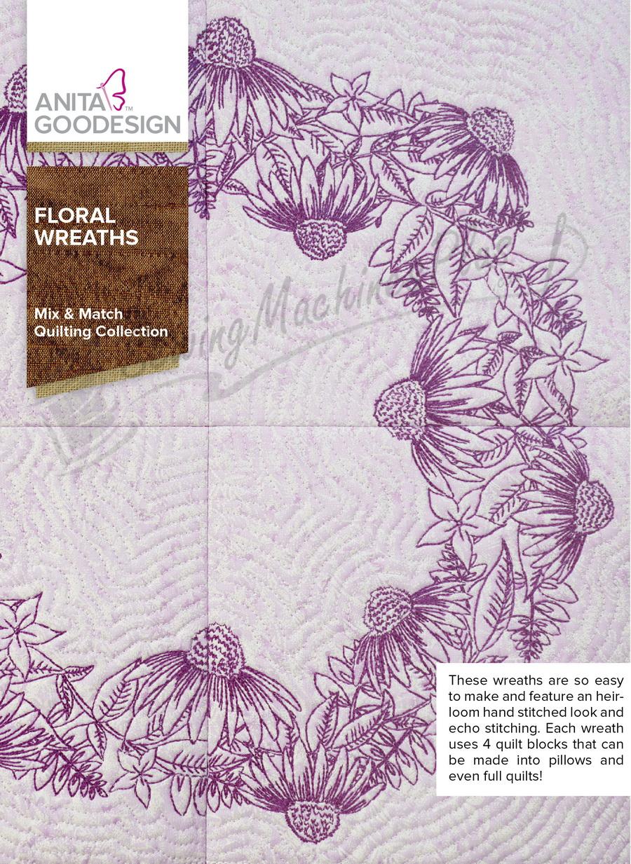 Anita Goodesign Floral Wreaths (281AGHD)