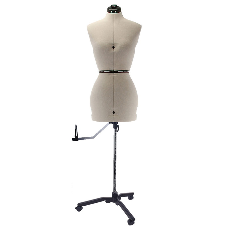 SewingMachinesPlus.com Ava Collection Small Adjustable Dress Form with New Style Base With Casters Included
