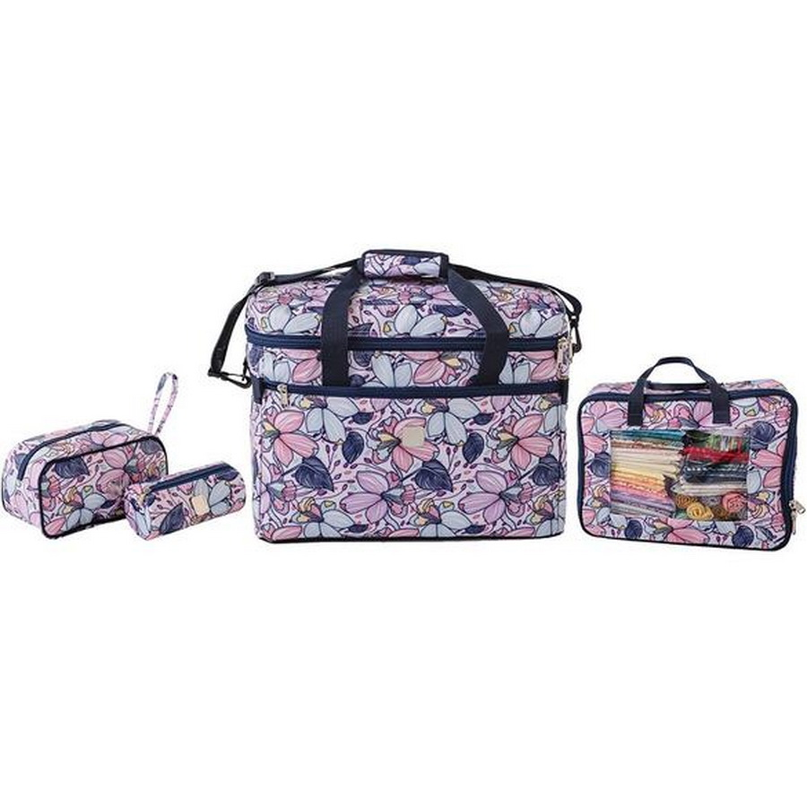 Bluefig Quilters Charm Pack Combo: Project Bag, Fat Quarter Bag, Zipper Bag and Wrist Bag - Maisy