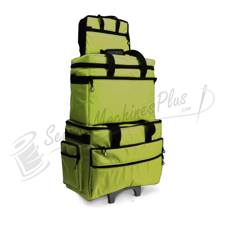 Bluefig TB19 Wheeled Sewing Machine Carrier & Project Combo - Lime