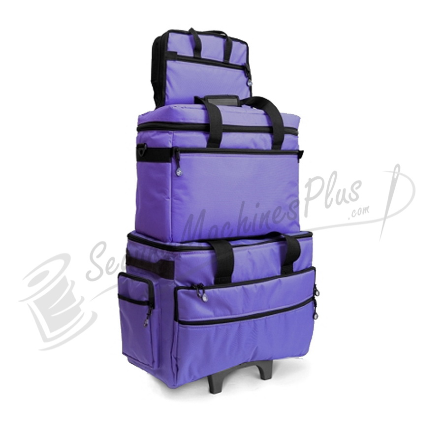 Bluefig TB19 Wheeled Sewing Machine Carrier & Project Combo - Purple