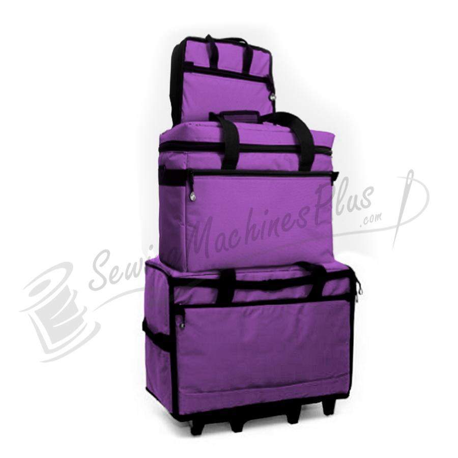 "Bluefig TB23 Wheeled Travel Bag 23"" Combo - Purple"