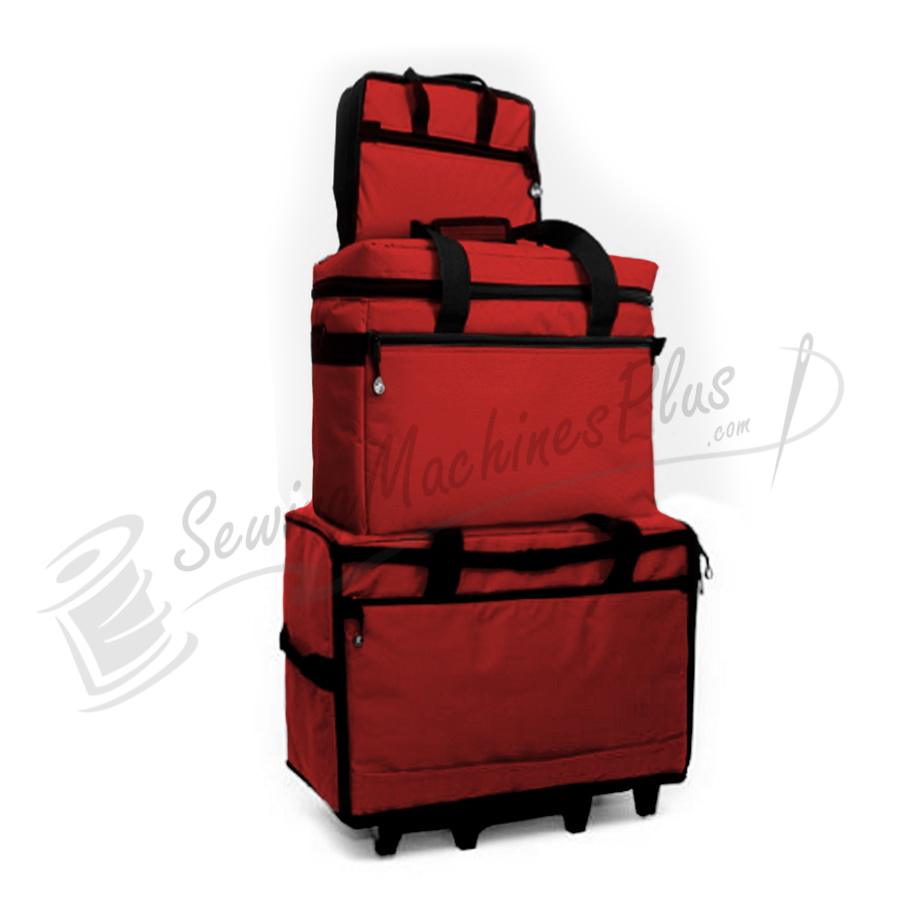 "Bluefig TB23 Wheeled Travel Bag 23"" Combo - Red"