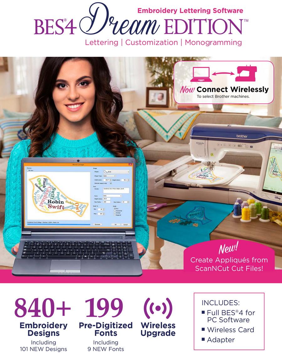 BES Embroidery Lettering Software 4 (SABESLET4)