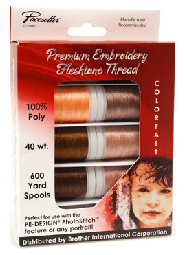 Brother Polyester Embroidery Thread - Fleshtone - 10 pack