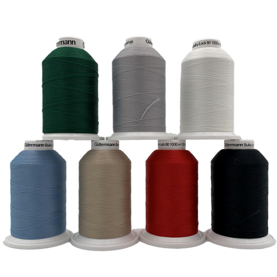 Bulkylock Serger Thread - 7 Color Set