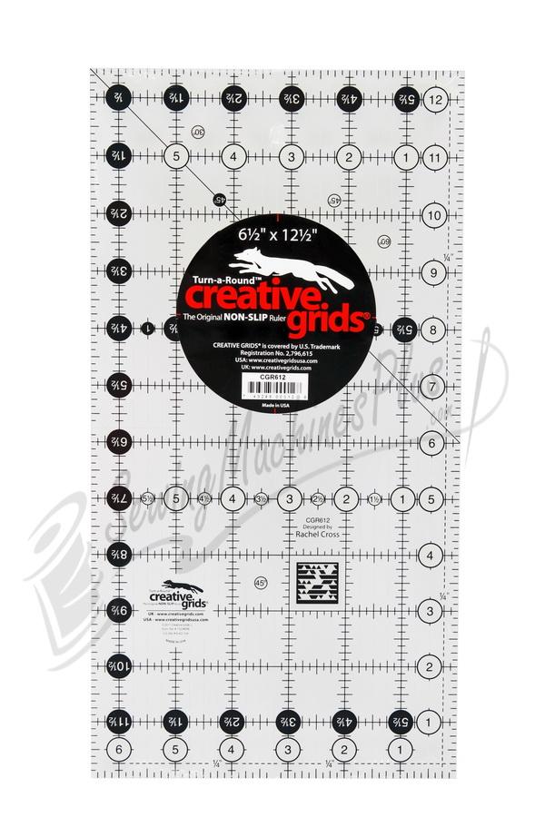 "CGR Creative Grids Non-Slip Ruler 6.5"" x 12.5""  (CGR612)"
