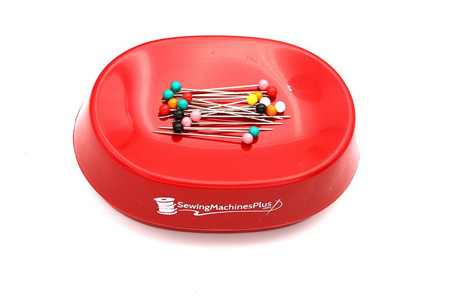 SewingMachinesPlus RED Magnetic PinPal Pincushion and Holder