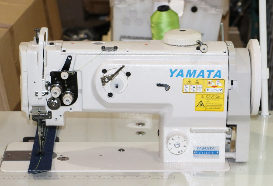 Yamata 1541S - Industrial Single Needle Walking Foot Machine with Safety Clutch Mechanism and Servo Motor(Table Comes Assembled)