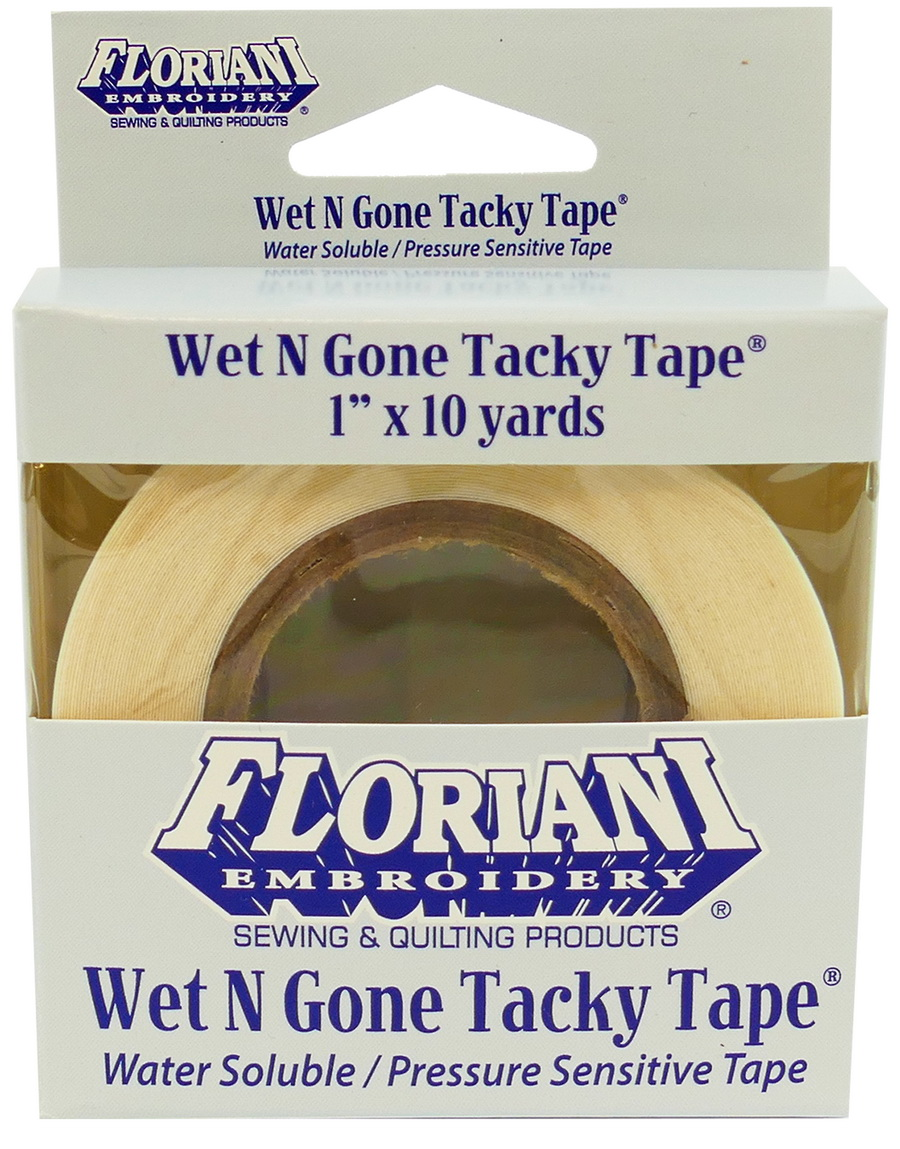 Floriani Wet N Gone Tacky Water Soluble Stabilizer 1in x 10 yds.