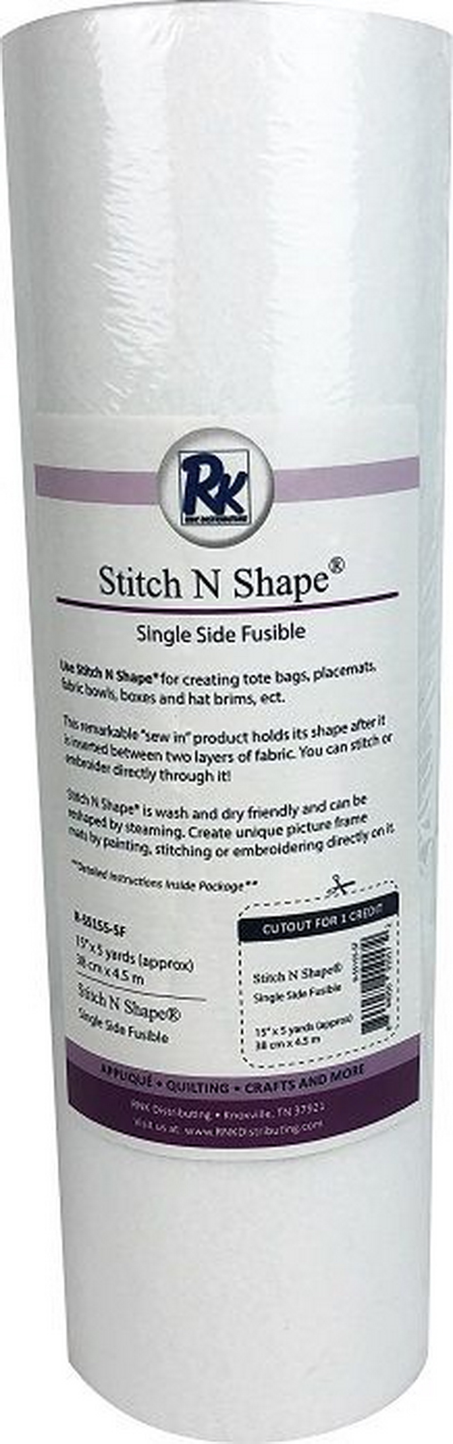 """RNK Stitch N Shape Single Side Fusible - 15"""" x 5yds"""