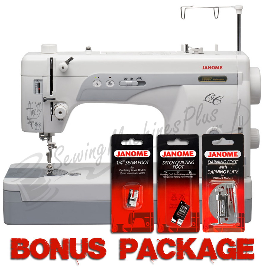 Janome 1600P-QC High-speed Straight-Stitch Machine & FREE BONUS