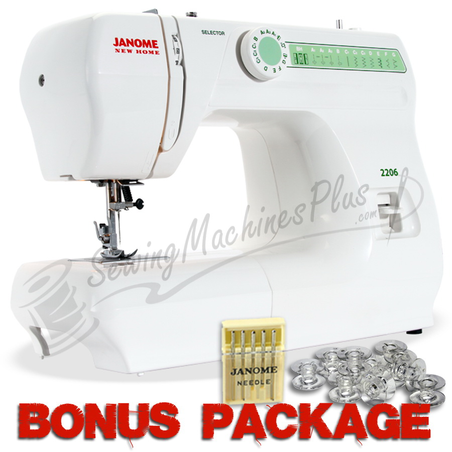 Details about  /Janome 2206 New Home Sewing Machine w// Exclusive Platinum Series Sewing Package!