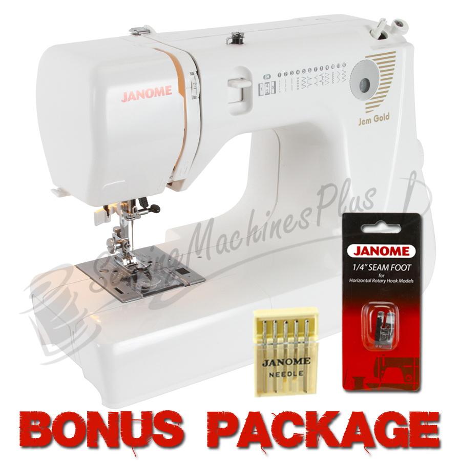 Janome Jem Gold 660 Portable Sewing & Quilting Machine & FREE BONUS