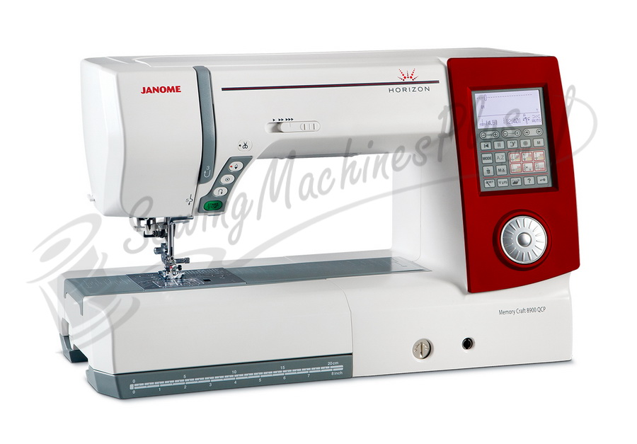 Janome Horizon 8900QCP Limited Edition Sewing Machine w/ Red Face Plate