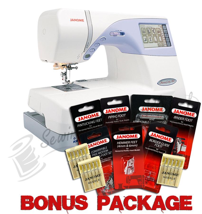 Janome Memory Craft 9500 w/ FREE BONUS