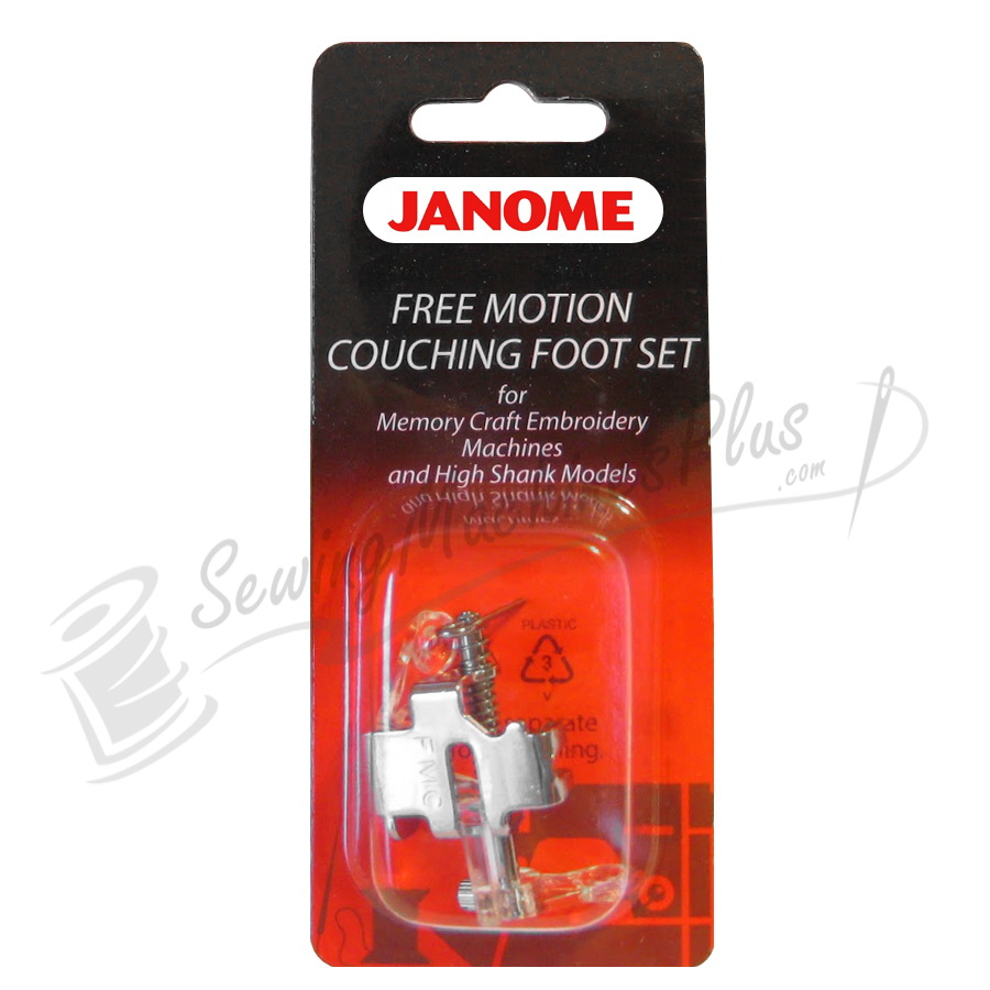 Janome Free Motion Couching Foot Set for Memory Craft Embroidery Machines