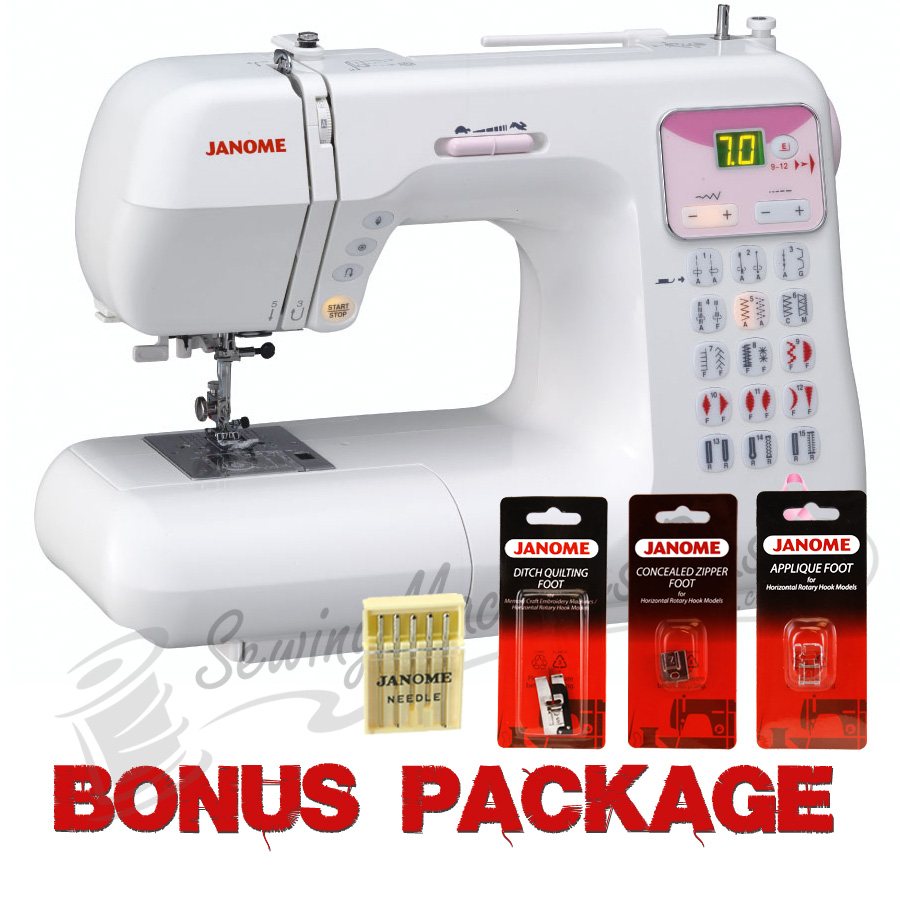 Janome DC4030 Pink Ribbon Sewing Machine w/ FREE BONUS
