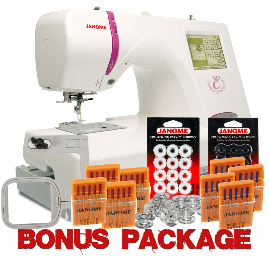 Janome Memory Craft 350E Embroidery Machine w/ FREE BONUS
