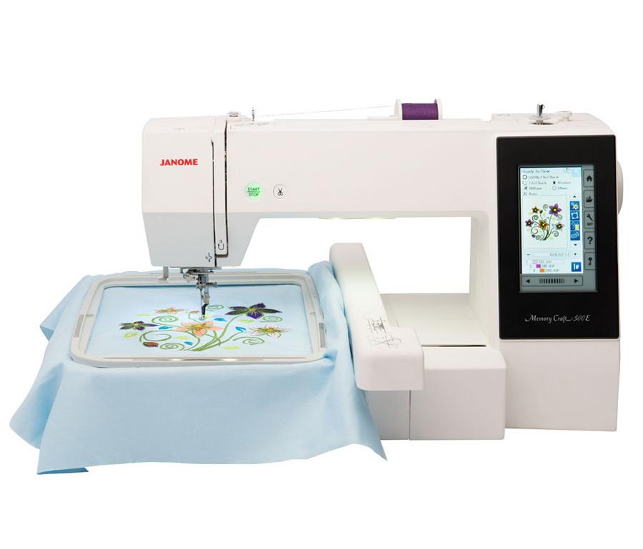 Janome Memory Craft 500E Embroidery Machine