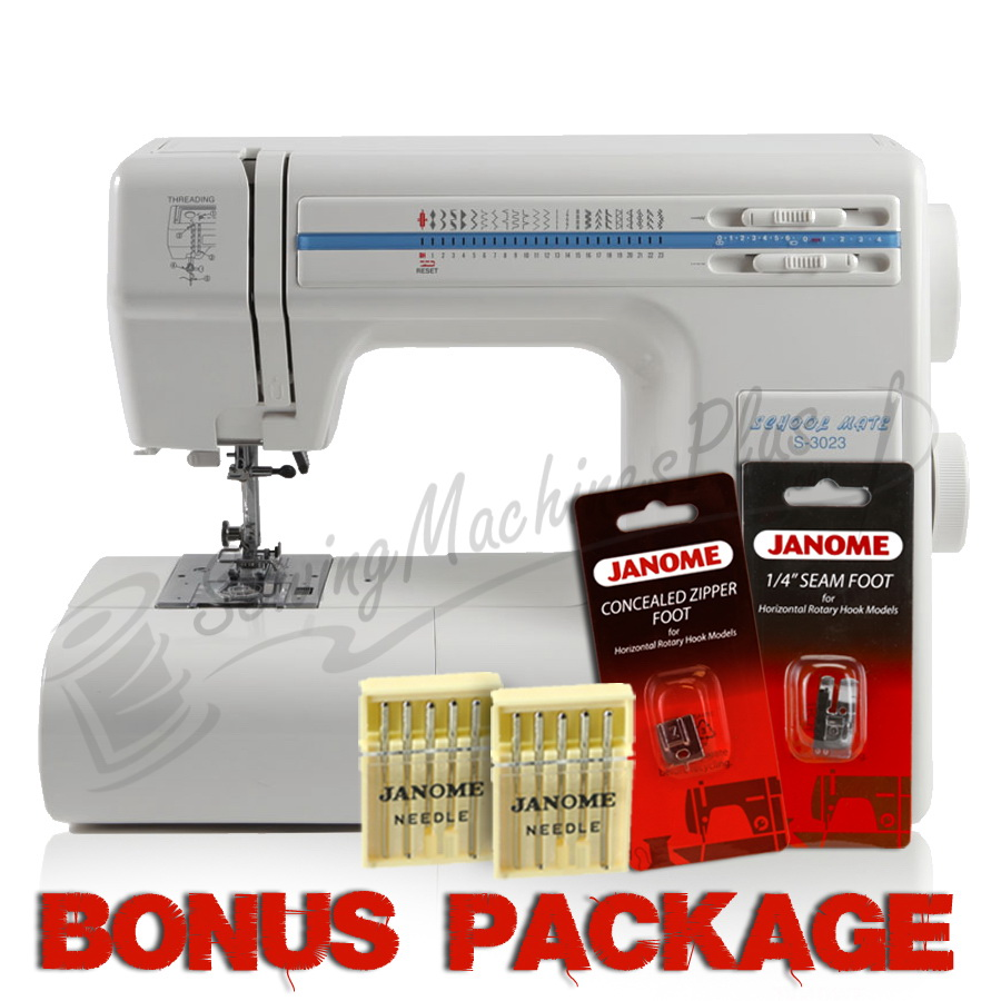 Janome Schoolmate S-3023 Sewing Machine & FREE BONUS