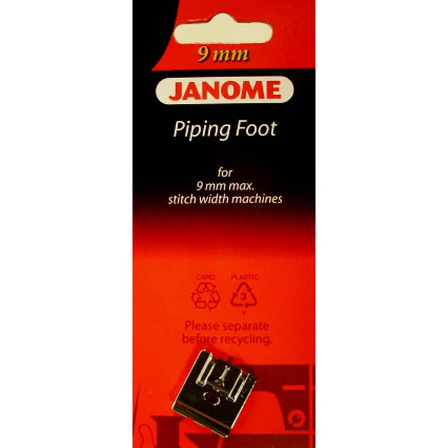 Janome 9mm Piping foot - #202088004