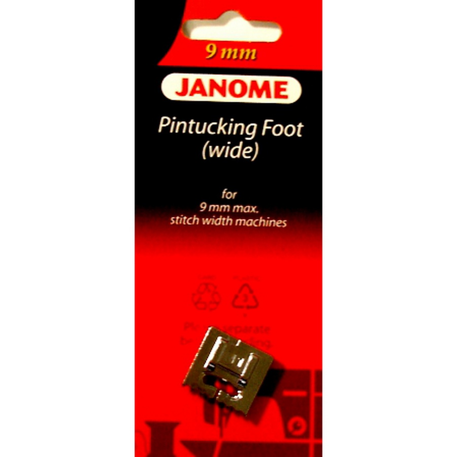 Janome 9mm Wide Pintucking Foot - #202093002