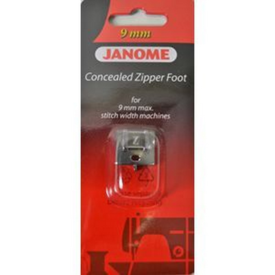 Janome 9mm Concealed Zipper Foot - #202144009