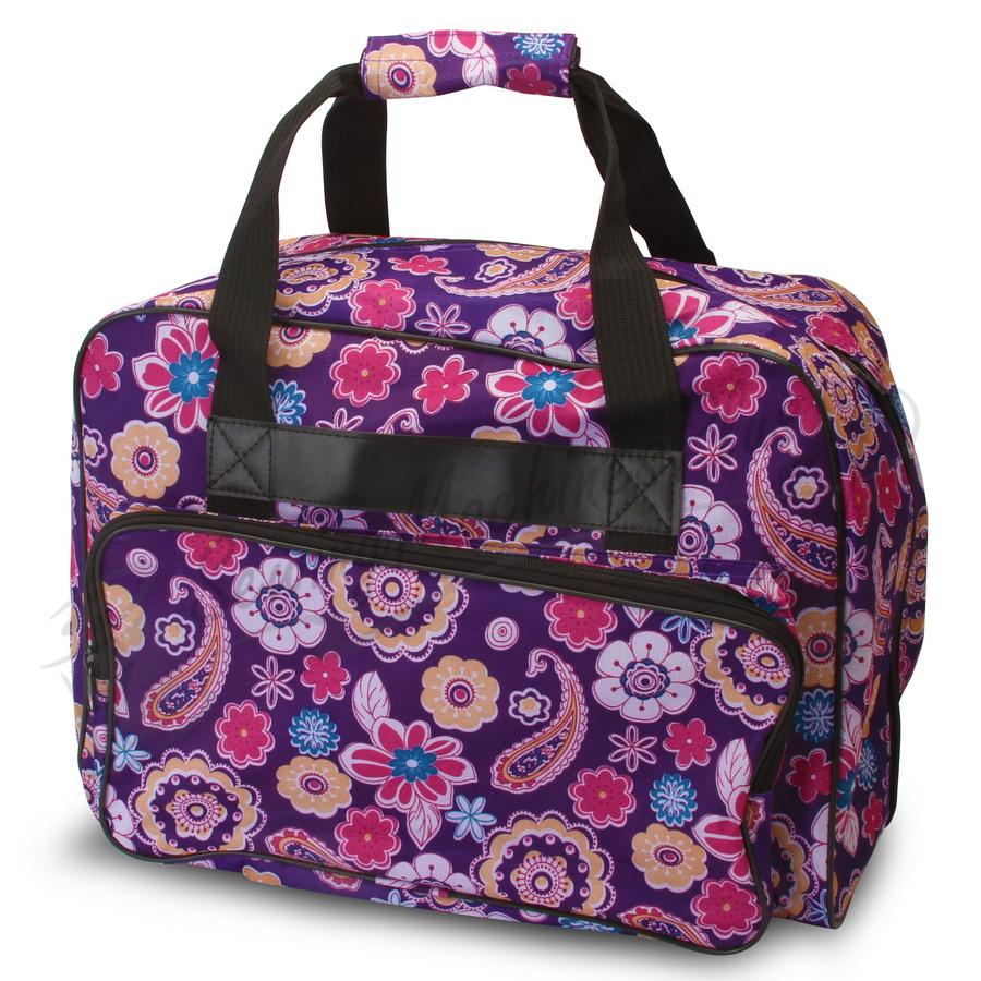 Janome Sewing Machine Tote Purple Fabric