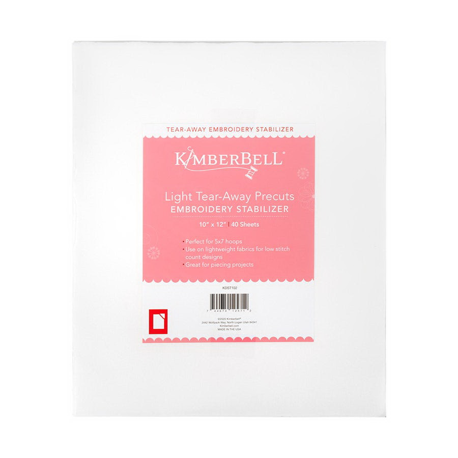 KimberBell Light TearAway 10 in x 12 in Precut Sheets 40 (KDST102)