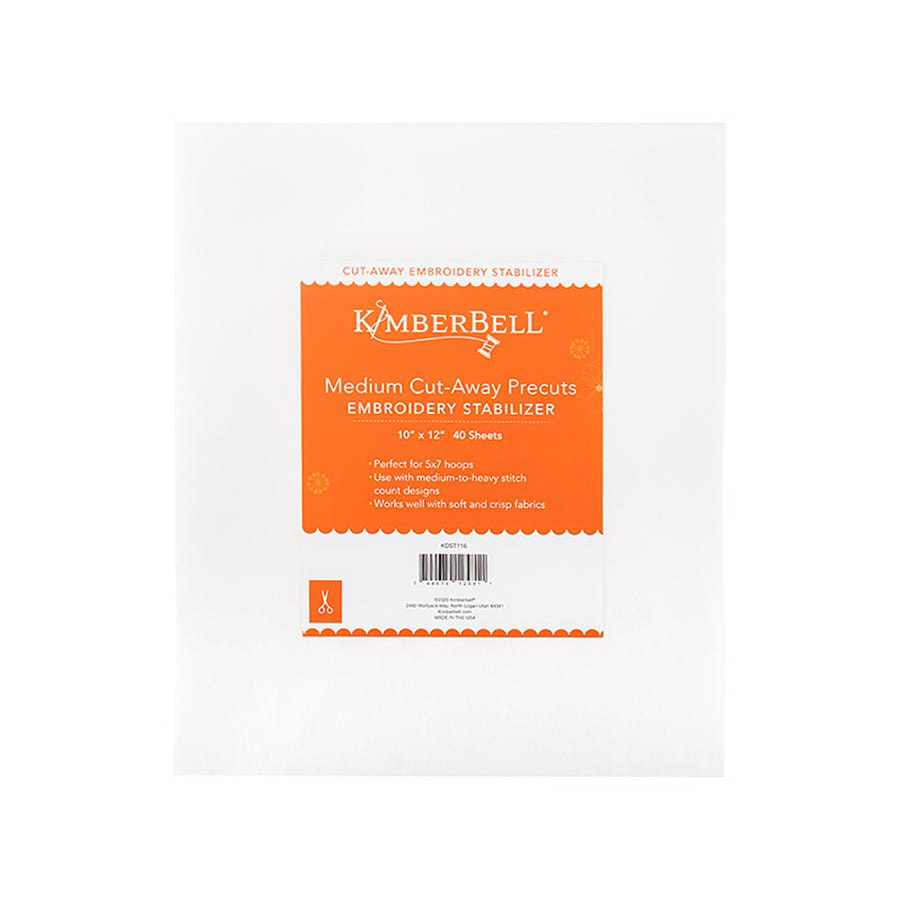 KimberBell Medium Cut Away 10 in x 12 in Precut Sheets 40 Stabilizer Pack (KDST116)