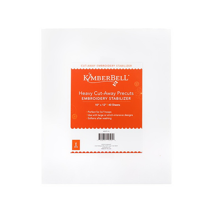 KimberBell Heavy Cut Away 10 in x 12 in Precut Sheets 40 Stabilizer Pack (KDST119)