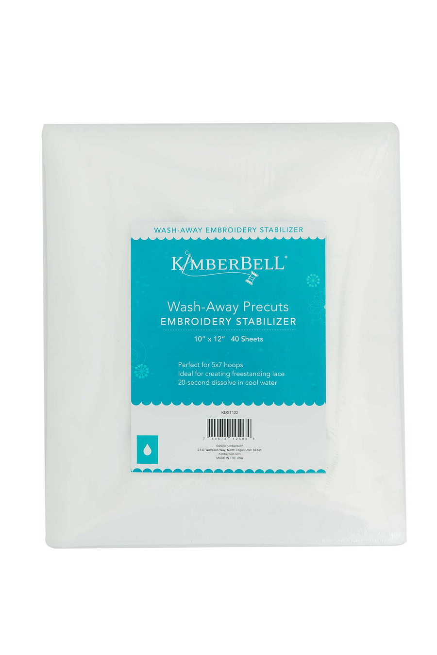 KimberBell Wash Away 10 in x 12 in Precut Sheets 40 Stabilizer Pack (KDST122)