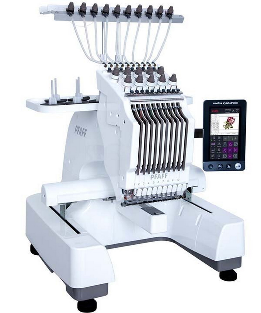 Pfaff Creative Stylist MN 110 10 Multi Needle Embroidery Machine With FREE Stand