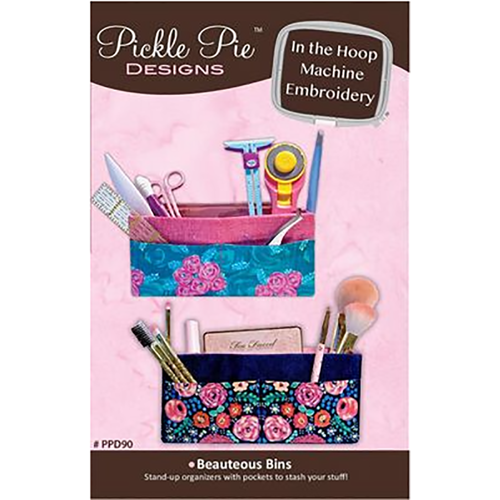 Pickle Pie Designs Beauteous Bins ITH Machine Embroidery CD (PPD91)