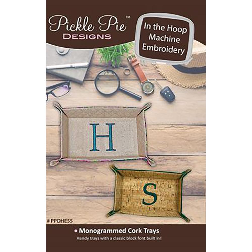 Pickle Pie Designs Monogrammed Cork Trays Hoop Envy Club Exclusive CD (PPDHE55)