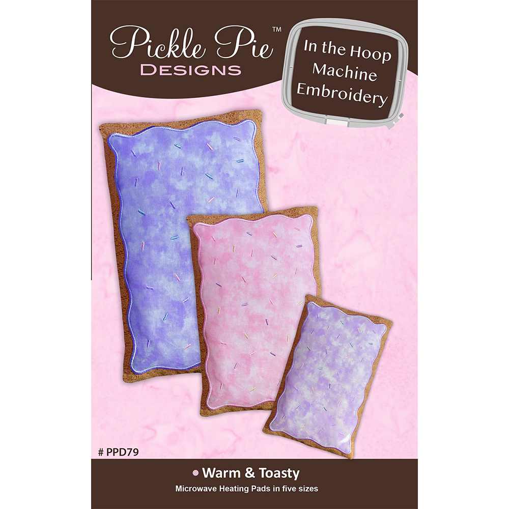 Pickle Pie Designs Warm  Toasty Heating Pads Embroidery CD (PPD79)