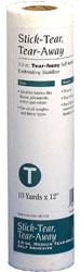 Stick Tear Away 1.5 oz Stabilizer 10 yds x 12 inches