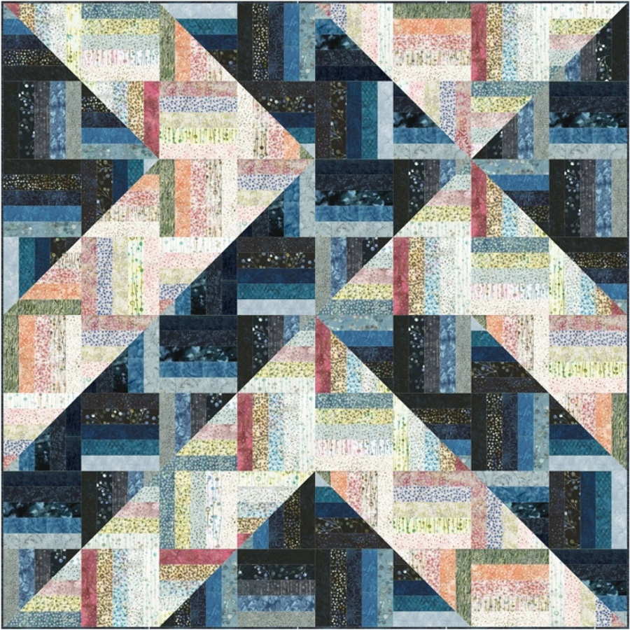 A Quilters Dream - Rockin Rail Fence Quilt Fabric Kit