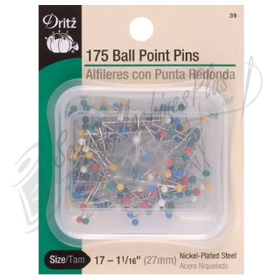 Dritz Pin Ball Point size 17-175 pins