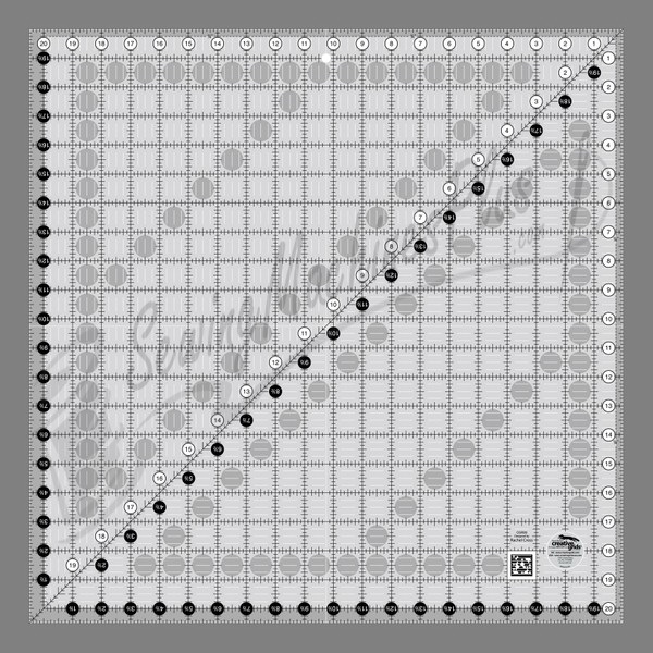 Creative Grids Quilting Ruler 20 1/2in Square CGR20