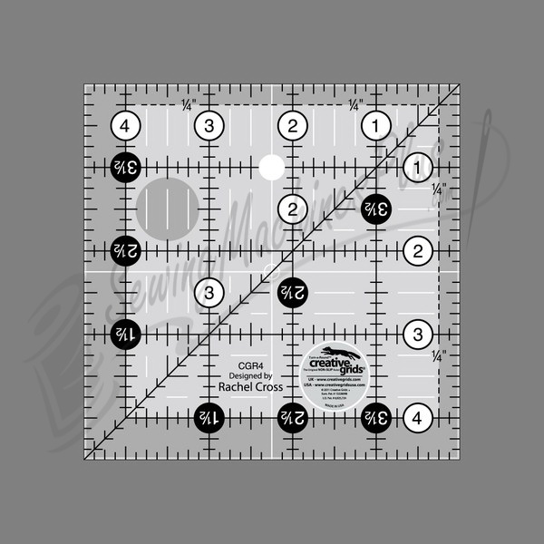 Creative Grids Quilting Ruler 4 1/2in Square